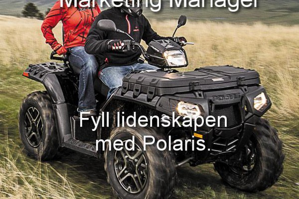 Polaris søker Skandinavisk Marketing Manager